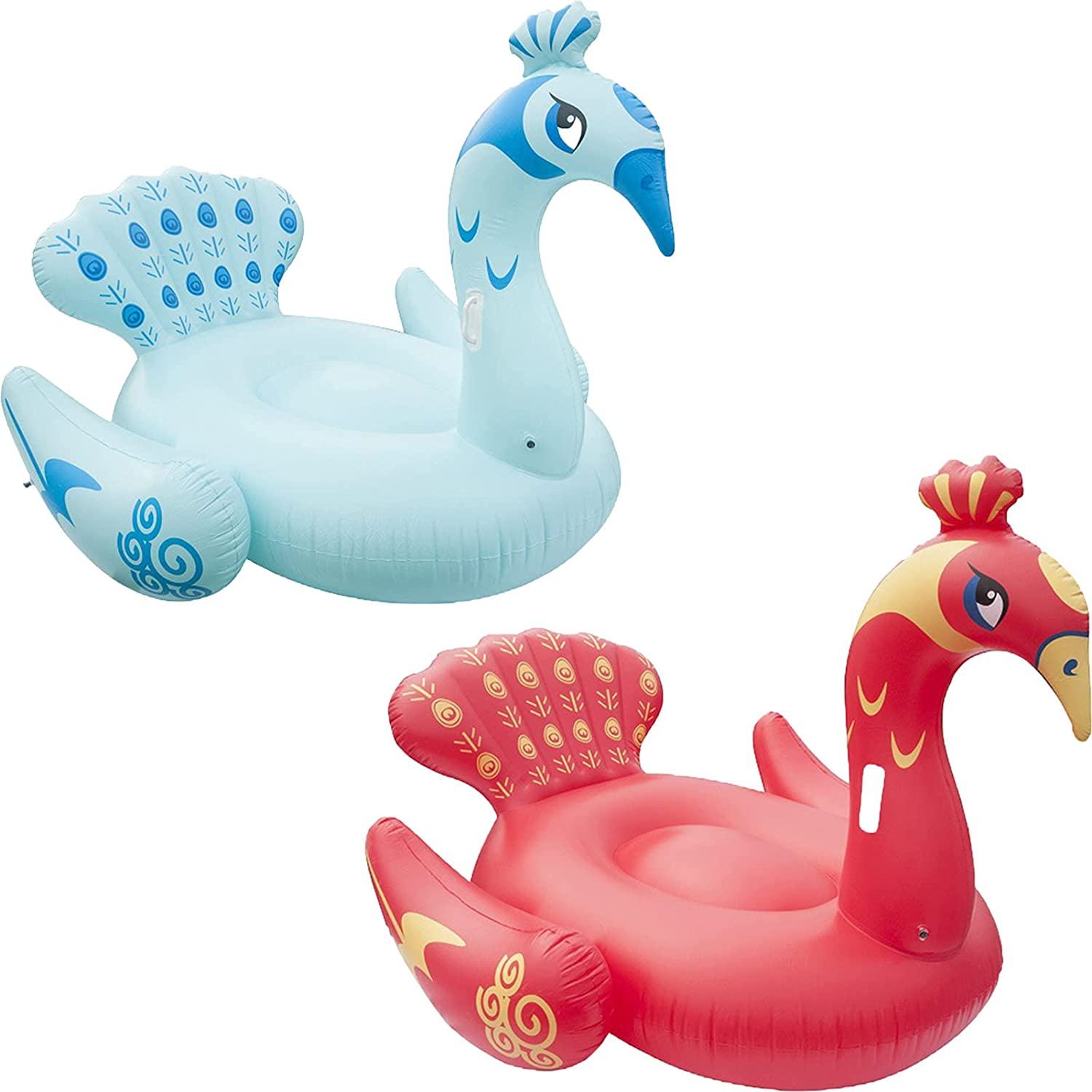 Giant Inflatable Floating Over item handling ☆ Bed in Swimming Children Year-end gift Peacock Pool