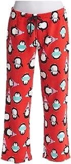 Womens Red Penguin Fleece Pajama Pants