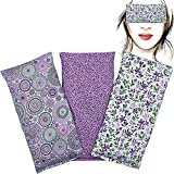 Almohada para los ojos 'Pack de 3 - Lila's 2021' | Semillas de Lavanda y arroz | Yoga, Meditación,...