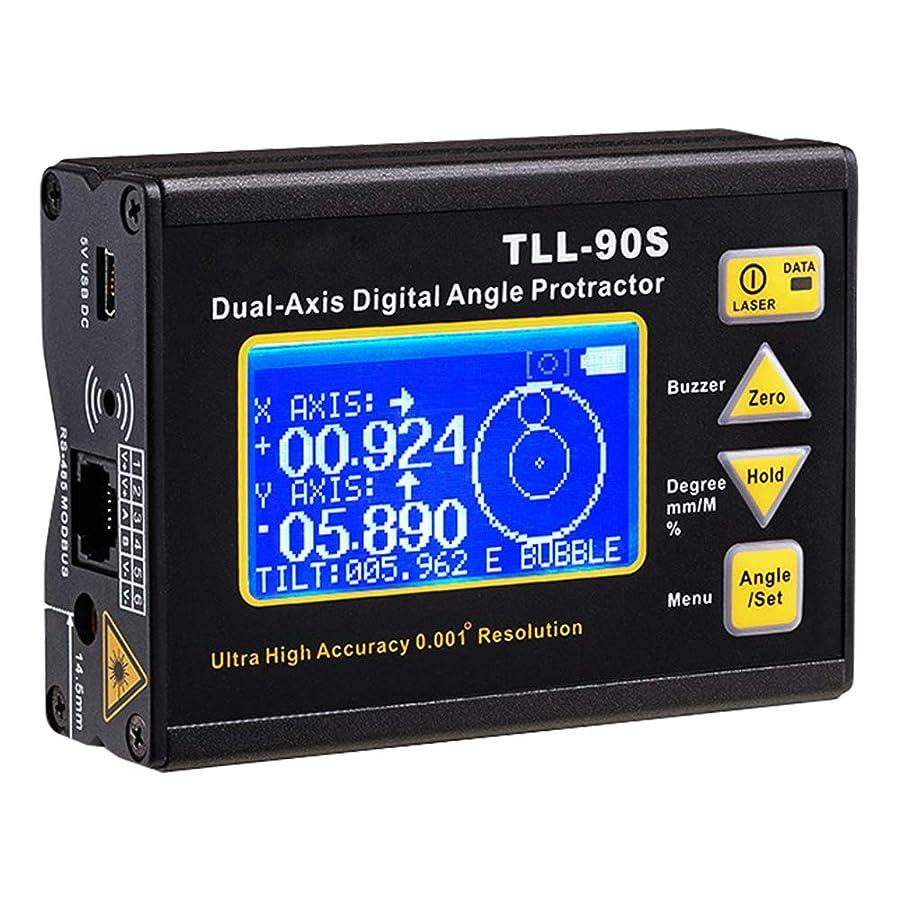 黒人九時四十五分ネットデジタル角度計 レベルゲージ 精密 0.001° 水準器 2軸測定 マグネットベース USB/PLCデータ伝導