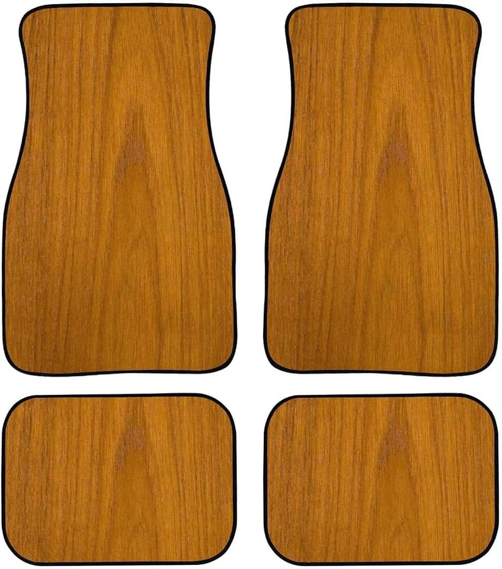 4 Pieces Car Mat Carpet Manufacturer regenerated product Non-Slip 5 popular wit Mats Grain Floor