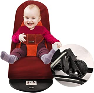 Livebest Baby Bouncer Balance Rocker Swing Chair with Soft Cotton,Dark Red - coolthings.us