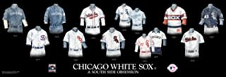 The Greatest-Scapes Framed Evolution History Chicago White Sox Uniforms Print