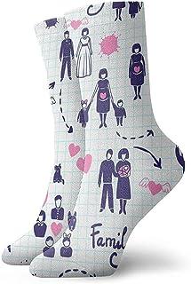 Kevin-Shop, Calcetines Tobilleros de Patrones sin Fisuras Familiares Calcetines Casuales y acogedores para Hombres, Mujeres, niños
