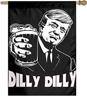 TXFASHIONshop Donald Trump Dilly Dilly Home Garden Flag Vertical Double Sided Spring Summer Yard Outdoor Decorative 27