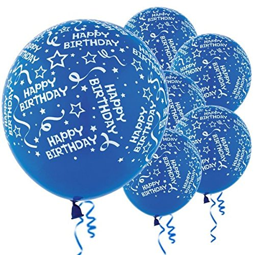 Amscan Latex Balloons, One Size, Bright Royal Blue