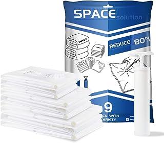 comprar comparacion Bolsas de Almacenaje al Vacío, 9 Unidades para Ahorrar Espacio (3*Jumbo 80x100cm+ 3*Grandes 60x80cm+ 3*Pequeñas 40x60cm) a...