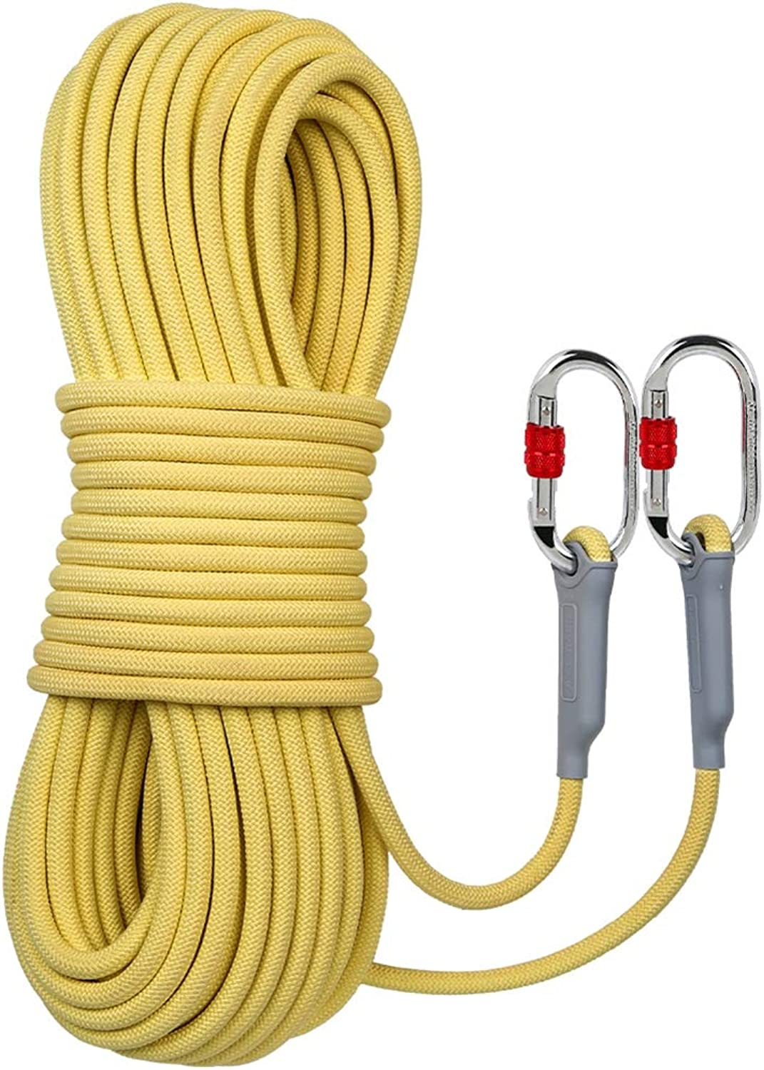 10M Static Rope, Fireproof WearResistant HighRise Escape Rope Outdoor Rope HighAltitude Safety Rope Heavy Duty Rope Safety Durable, 10.5mm,10m