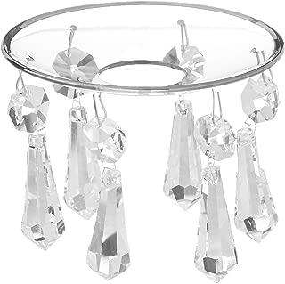 Boston Warehouse Formglas Swedish Crystal Bobeche Candle Ring
