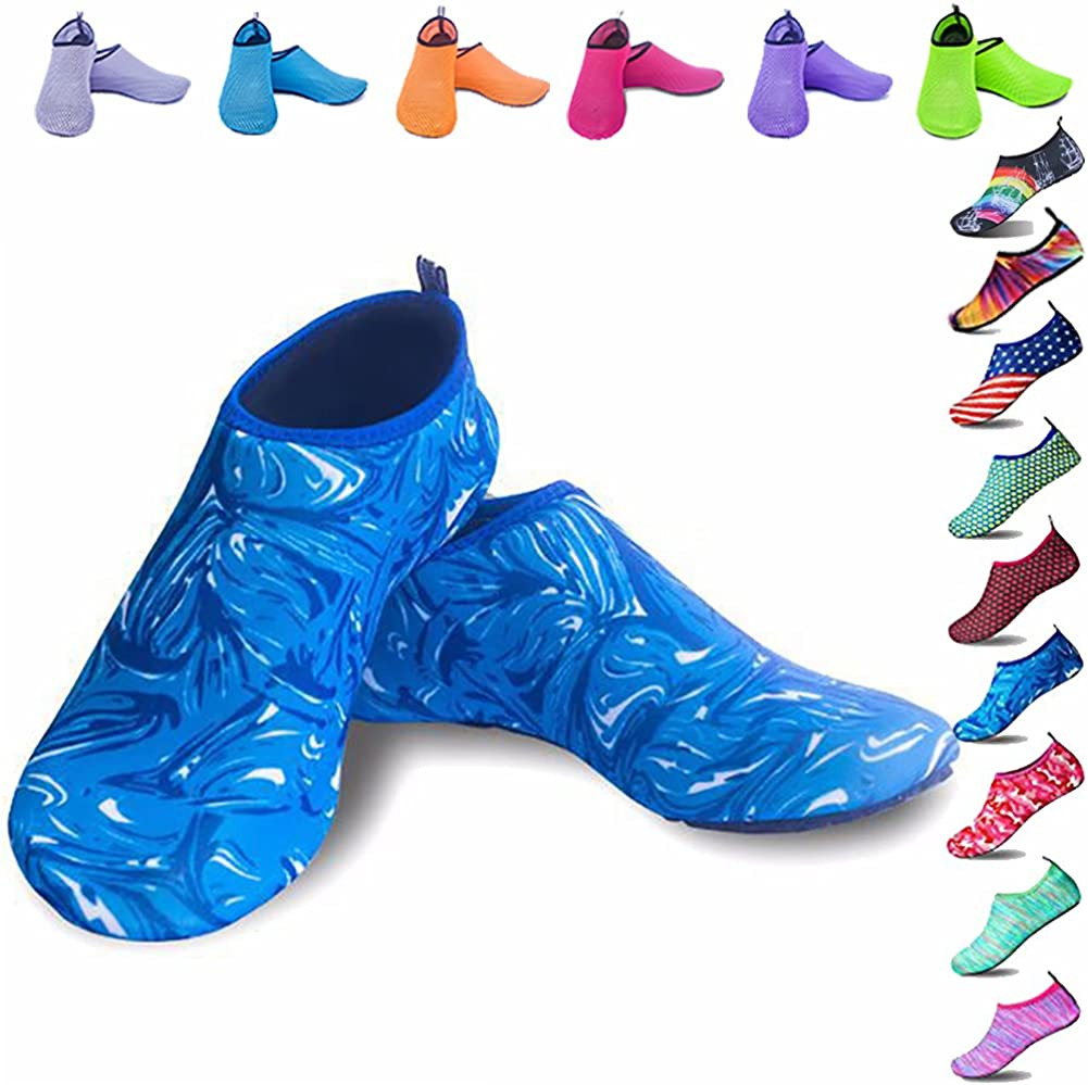 Peicees Mens and Womens 2021 new Water Shoes Aqua Same day shipping Dive Dry Quick Wa Beach