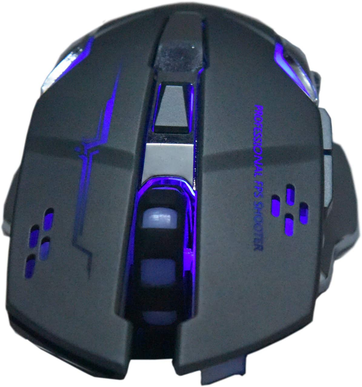 Wireless Charging Gaming Mouse, Silent Luminous Mechanical Mouse, with USB Receiver, Suitable for PC, Tablet, Laptop (Gray)