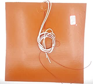 AiCheaX - 3D Printer Parts 30x30CM heatbed 24/110/120/220/240V 200/350/500/600/750W Thermostor Silicone Heater Pad Heated Bed - (Size: 24V 200W)