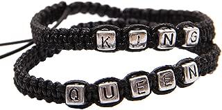 Pulseras Pareja, 1 Par De Letras King Queen Pulsera De Pareja