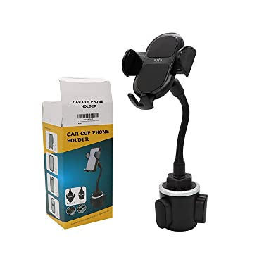 Phone Car Holder Cup Holder - Adjustable Car Cupholder for Mobile Phone Android Galaxy, s9, s10, Note, iPhone 6, 7, 8, Plus, X, XR, SE, 11/ 12, Pro, Max, Mini