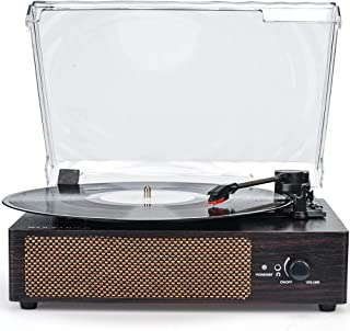 Vinyl Record Player with Speakers Turntable Wireless Phonograph Portable LP with Built in Speakers 3 Speed Belt Drive Reco...