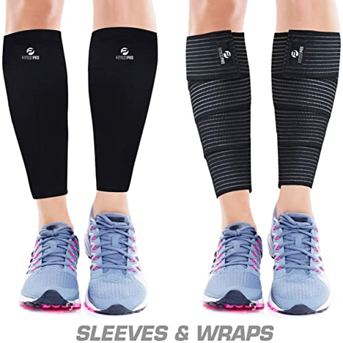 540b3d85fb Calf Compression Sleeve Socks and Leg Wraps (4 Piece) Shin Splint Support,  Calve