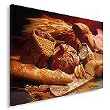 Feeby. Cuadro en lienzo - 1 Parte - 40x60 cm, Imagen impresión Pintura decoración Cuadros de una pieza, PAN, PRODUCTOS DE PANADERÍA, COCINA, MARRÓN