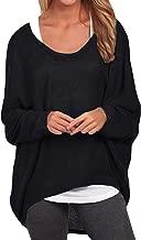 Zanzea Femme Casual Lâche Automne Irrégulier Manches Chauve-Souris Longue Pull-Over Shirt