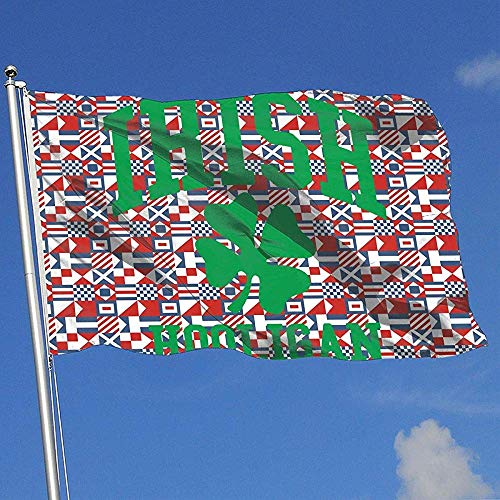 wallxxj Fahne Irische Hooligan Yard Flagge Brise Flagge Garten Flagge Single Layer Yard Banner Yard Flagge 150X90Cm