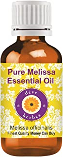Deve Herbes Pure Melissa Essential Oil (Melissa officinalis) Premium Therapeutic Grade for Hair, Skin & Aromatherapy 30ml ...
