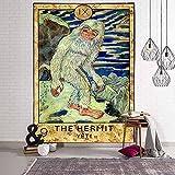 Tapiz antiguo europeo de los tontos para colgar en la pared, tapiz de tarjeta de tarot de adivinación, tapiz de fondo de pared familiar A8 150x200cm