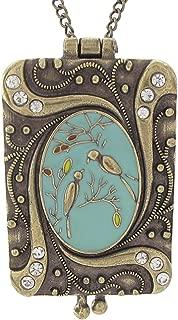 DaisyJewel Classic Birdsong Art Nouveau Vintage Locket Love Bird Necklace