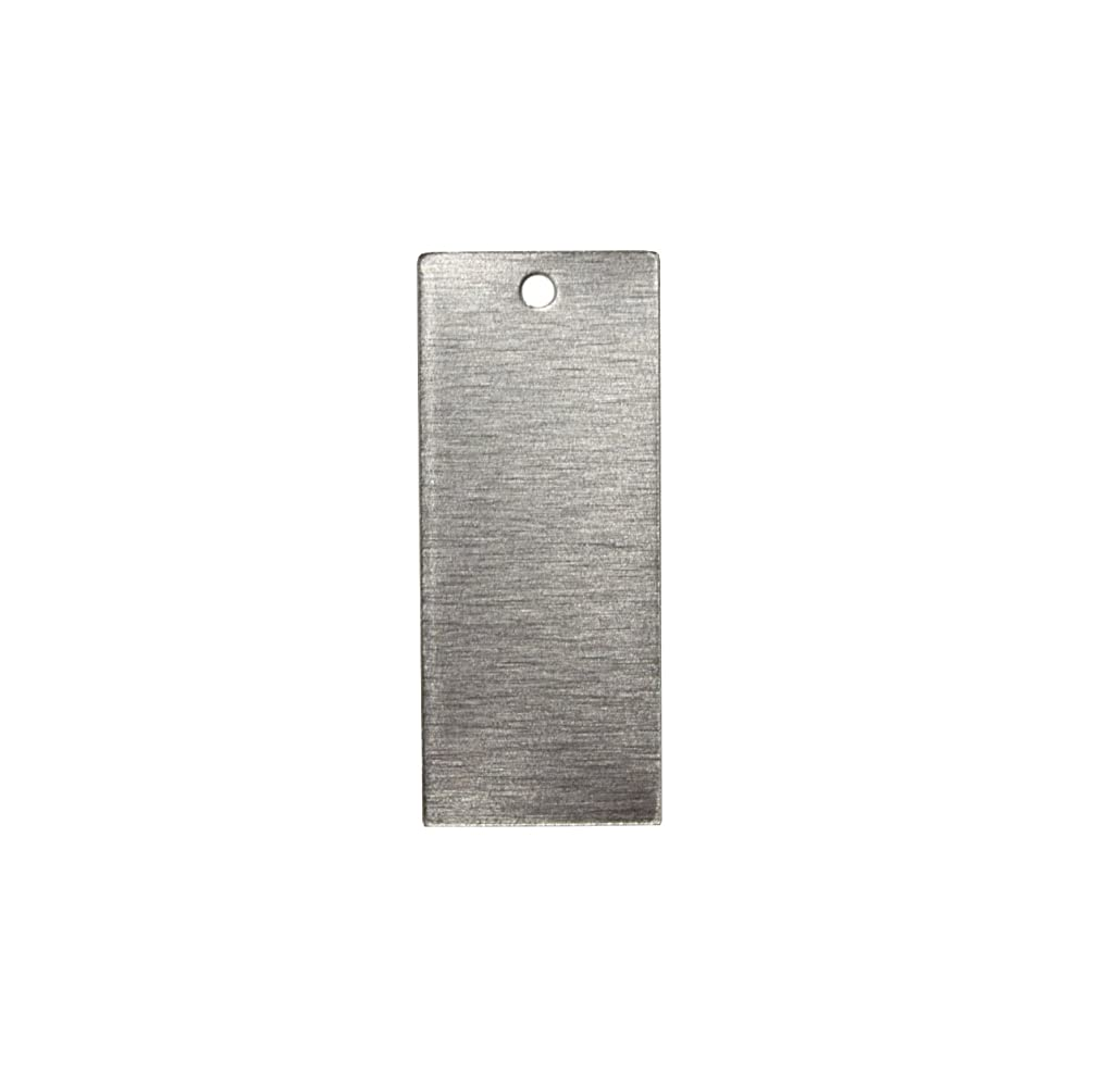 RMP Stamping Blanks, 5/8 Inch x 1 1/2 Inch Rectangle with One Hole, Aluminum .032