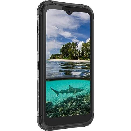スマホ 本体 Blackview BV5900 simフリー スマートフォン 本体 4G アウトドア 防水スマホ 防塵スマホ 耐衝撃スマホ Android 9.0 1300万画素+500万画素 5580mAh 3GB RAM+32GB ROM タフスマホ 携帯電話 技適認証済み AU対応不可 1 付き(ブラック)