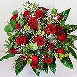 Ramo de 18 Rosas Rojas Naturales - Entrega EN 24 Horas -Flores Frescas a Domicilio - DEDICATORIA...