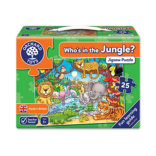 Orchad  216   Puzzle Who's in The Jungle? (25 Piezas, Idioma inglés)