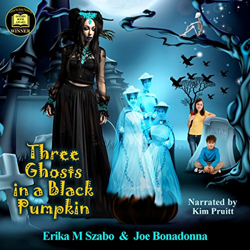 Three Ghosts in a Black Pumpkin audiobook cover art