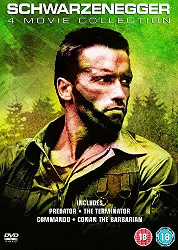 Arnold Schwarzenegger 4 Movie Collection: Predator, The Terminator, Commando & Conan The Barbarian [DVD]