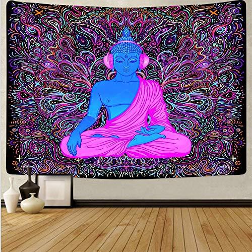 Tapiz de seta de calavera colorida de dibujos animados tapiz de arte de calavera mágica sala de estar decoración del hogar tela de fondo A11 130x150cm