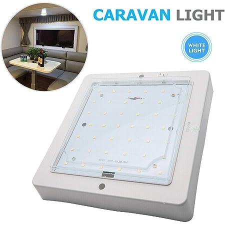 Plafonnier LED, lumière de toit de voiture 12V 9W, lampe intérieure pour camping-car caravane camping-car camion remorque véhicule, blanc