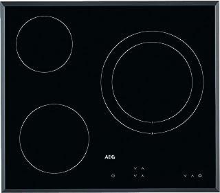 comprar comparacion AEG HK623021FB Placa vitrocerámica, Biselada, 3 zonas de cocción, Panel de control táctil independiente, Negro, 60 cm