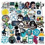 KATTERS Hackers Graffiti Stickers Geek Programación Pegatinas para Equipaje Laptop Motocicleta Monopatín Bicicleta Calcomanía Juguete 50 Unids/Set