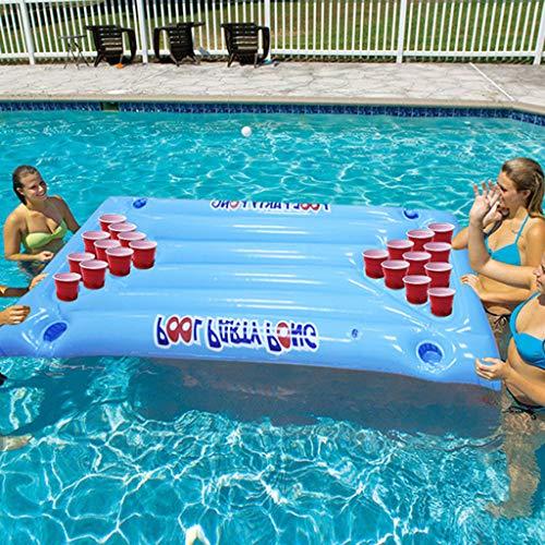 AQUYY Aufblasbare Spiel Schwimmende Reihe, PVC, Wasser Lounge Stuhl, Tischtennis Spiel Schwimmende Reihe, Sommer Pool Party Wasser Spaß Spielzeug