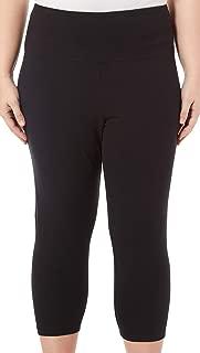 Plus Suave Solid Elastic Waist Legging 1X Ebony Black