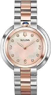 Bulova Womens Quartz Watch, Analog Display and Stainless Steel Strap 98P174
