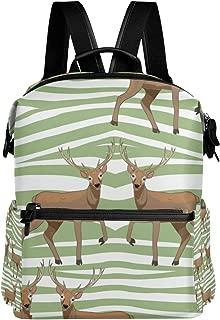 Deer Pattern Simple Backpacks Casual Daypack Student School Bag Hiking Sports College Bookbag Travel Outdoor Sports Rucksack for Women Girls Teenagers