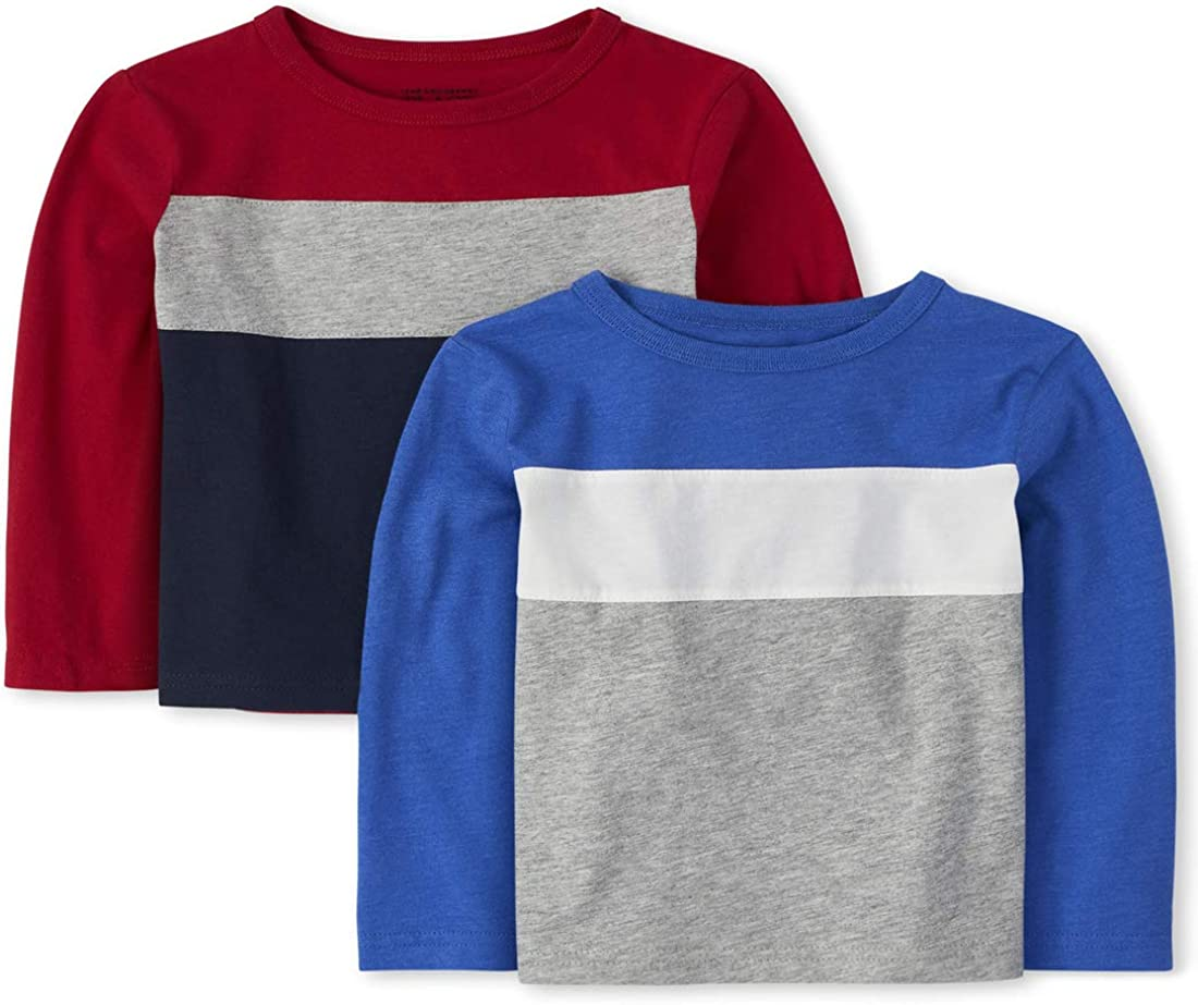 The Children's Place Boys' Baby and Toddler Colorblock Top 2-Pack