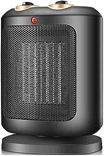 Jiareq1 Calefactor Ventilador Personal Calentador Espacio portátil Negro compactos portátil Calentador eléctrico Fresco Caliente 1800w Ventilador