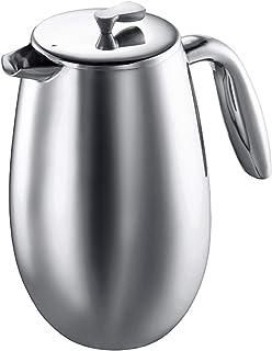 BODUM ボダム COLUMBIA コロンビア ダブルウォール フレンチプレス コーヒーメーカー 1L シルバー 【正規品】 1308-16