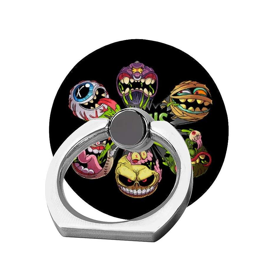 愛情テストキノコスマホリング 携帯リング 指リング 薄型 落下防止 スタンド機能 マッドボール バンカーリング 指輪リング タブレット/各種他対応 360回転 スマホブラケット