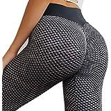 TSUTAYA Women's Seamless Scrunch Leggings High...