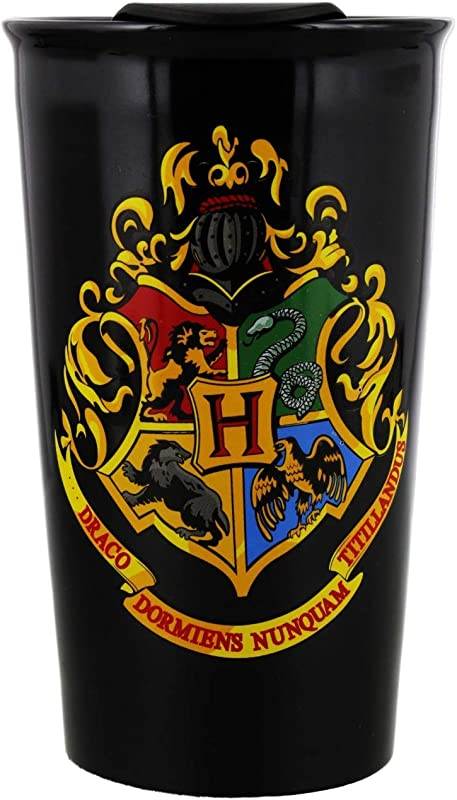 Harry Potter Mug Harry Potter Travel Mug For Coffee And Tea Premium Drinkware For Hot And Cold Drinks A Magical Hogwarts Novelty Item For Slytherin And Gryffindor Potterheads Ceramic Black