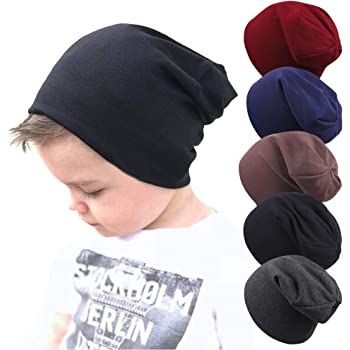 Guozyun Baby Hat Baby Boy's Beanie Hats Cotton Skull Caps for Baby Toddlers Kids Little Boys 6-60 Months