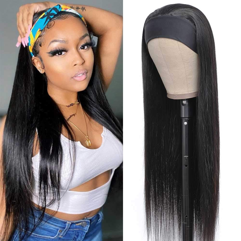 San Jose Mall Max 84% OFF HAIRMASTER Headband Wig Straight Human f Wigs Hair
