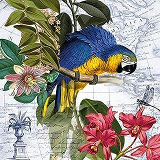 20 servetten papegaai in vintage stijl | dieren | tafeldecoratie 33x33cm
