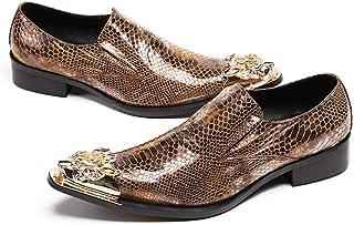 Mr.Zhang's Art Home Men's shoes Zapatos de Hombre de Negocios Dorados Zapatos Puntiagudos